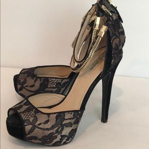 Guess Double Ankle Strap Heels (8)